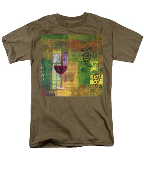 Mixed Media Painting Wine Men's T-Shirt  (Regular Fit)