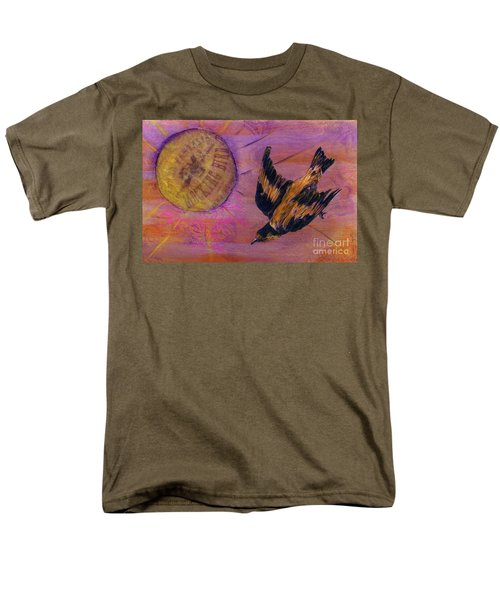 Men's T-Shirt  (Regular Fit) featuring the mixed media Mockingbird by Desiree Paquette