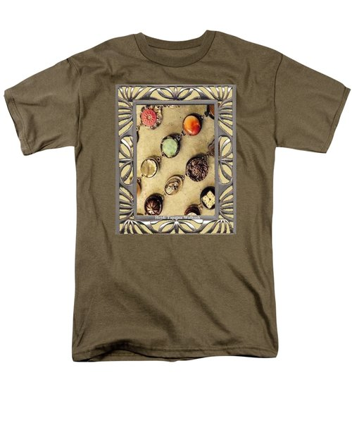 Men's T-Shirt  (Regular Fit) featuring the mixed media Moments In Time Bracelet Art by Heidi Walkush