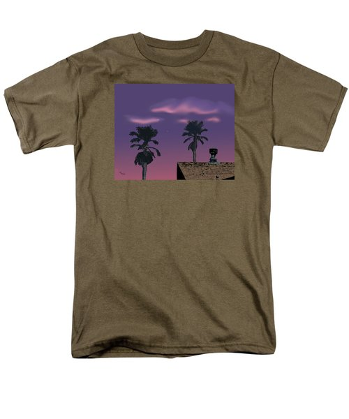 Men's T-Shirt  (Regular Fit) featuring the digital art Mom's House by Walter Chamberlain