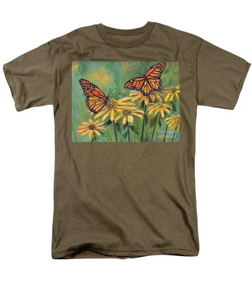 Monarch Butterflies Men's T-Shirt  (Regular Fit) by Lou Ann Bagnall