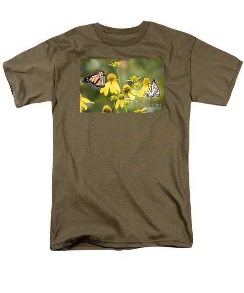 Men's T-Shirt  (Regular Fit) featuring the photograph Monarchs Of Wisconsin by Ricky L Jones