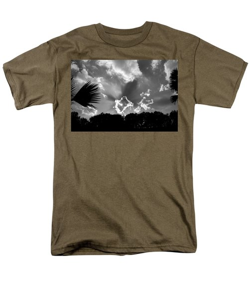 Monochrome Sunburst Men's T-Shirt  (Regular Fit) by Eric Liller