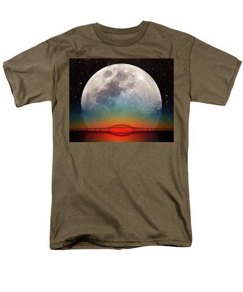 Monster Moonrise Men's T-Shirt  (Regular Fit) by Larry Landolfi