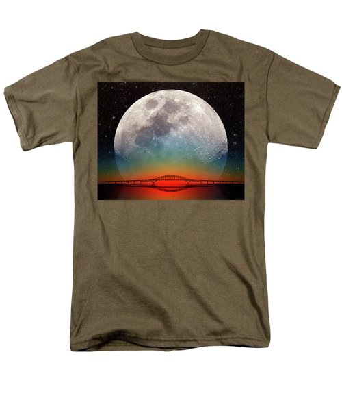 Men's T-Shirt  (Regular Fit) featuring the photograph Monster Moonrise by Larry Landolfi