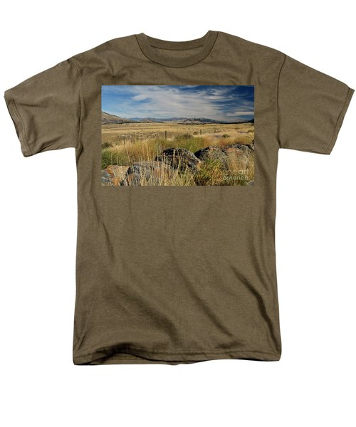 Montana Route 200 Men's T-Shirt  (Regular Fit) by Cindy Murphy - NightVisions