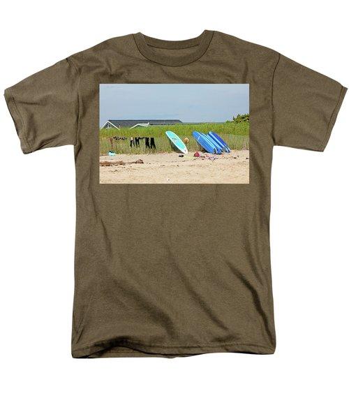 Men's T-Shirt  (Regular Fit) featuring the photograph Montauk Beach Stuff by Art Block Collections