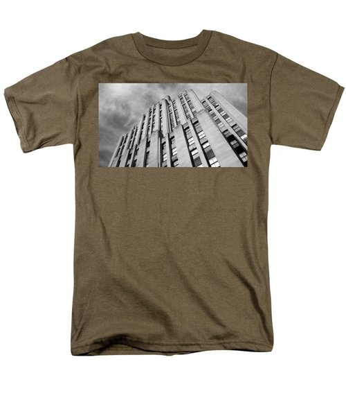 Men's T-Shirt  (Regular Fit) featuring the photograph Montreal Skyscraper by Valentino Visentini