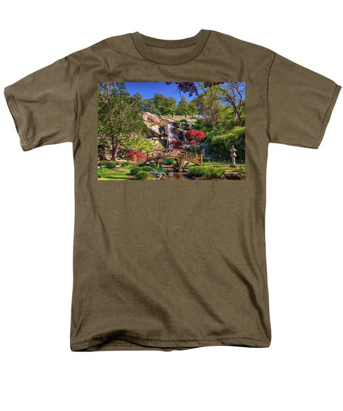 Men's T-Shirt  (Regular Fit) featuring the photograph Moon Bridge And Maymont Falls by Rick Berk
