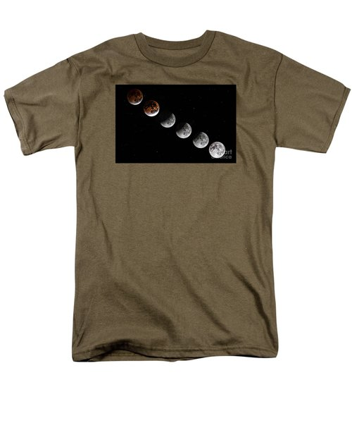 Moon Eclipse 2015 Men's T-Shirt  (Regular Fit) by Shirley Mangini