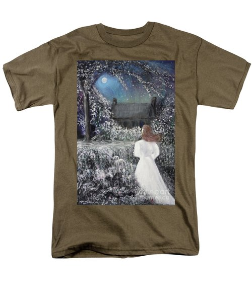 Moonlight Garden Men's T-Shirt  (Regular Fit) by Lyric Lucas