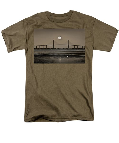 Moonrise Over Skyway Bridge Men's T-Shirt  (Regular Fit) by Steven Sparks