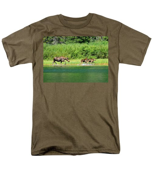 Men's T-Shirt  (Regular Fit) featuring the photograph Moose Play by Greg Norrell