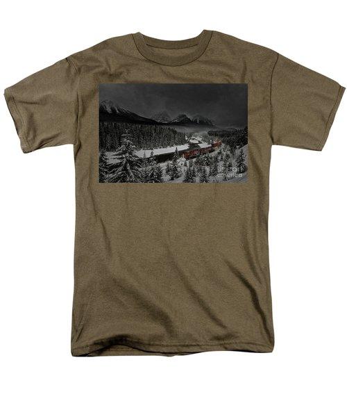 Morant's Curve - Winter Night Men's T-Shirt  (Regular Fit) by Brad Allen Fine Art