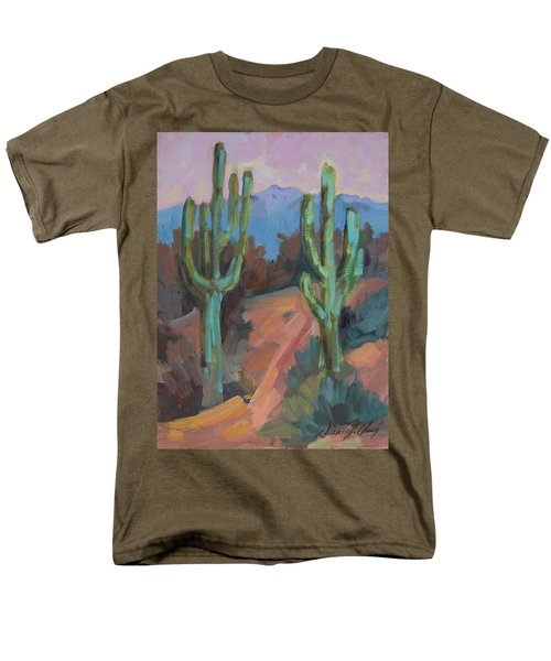 Men's T-Shirt  (Regular Fit) featuring the painting Morning At Fort Apache by Diane McClary