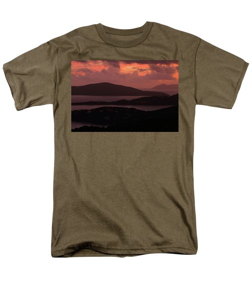 Men's T-Shirt  (Regular Fit) featuring the photograph Morning Sunrise From St. Thomas In The U.s. Virgin Islands by Jetson Nguyen
