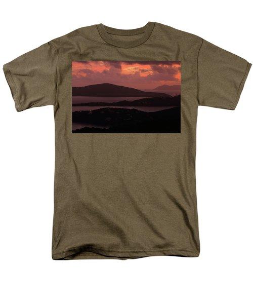 Morning Sunrise From St. Thomas In The U.s. Virgin Islands Men's T-Shirt  (Regular Fit) by Jetson Nguyen