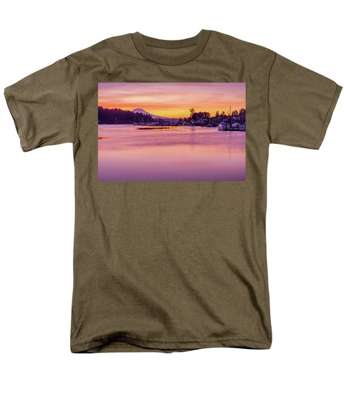 Morning Sunrise In Gig Harbor Men's T-Shirt  (Regular Fit) by Ken Stanback