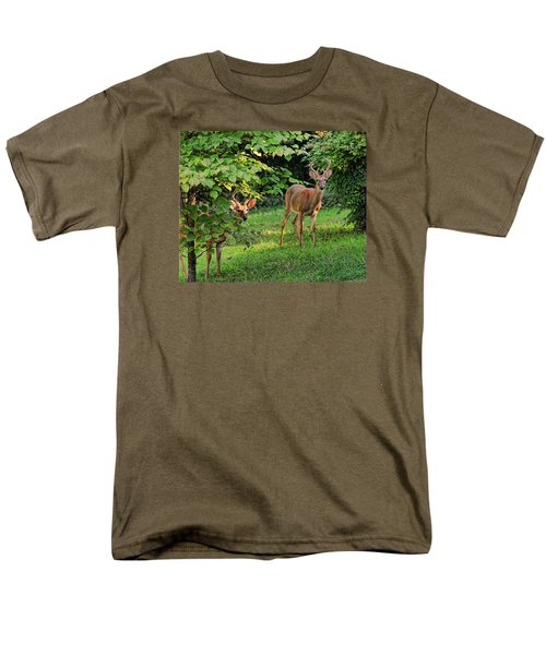 Men's T-Shirt  (Regular Fit) featuring the photograph Morning Visitors by Rick Friedle