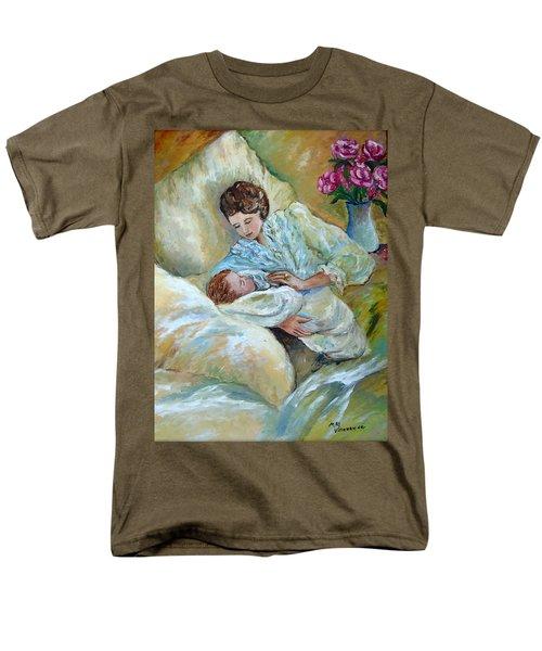 Mother And Child By May Villeneuve Men's T-Shirt  (Regular Fit) by Susan Lafleur for May Villeneuve