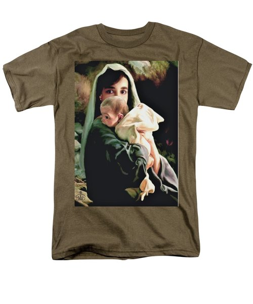 Mother And Child Men's T-Shirt  (Regular Fit) by Ron Chambers