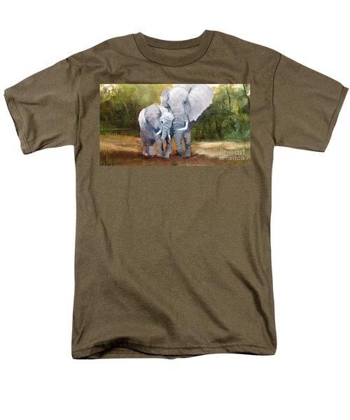 Mother Love Elephants Men's T-Shirt  (Regular Fit)