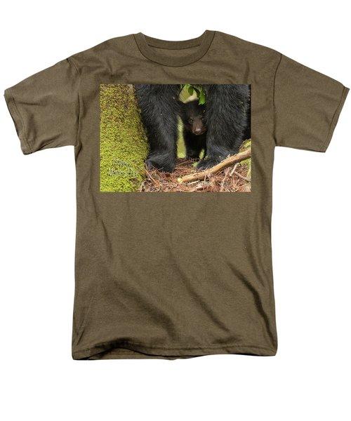 Mothers Day Bear Card Men's T-Shirt  (Regular Fit) by Everet Regal