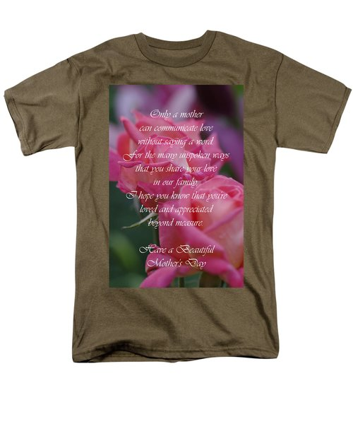 Men's T-Shirt  (Regular Fit) featuring the photograph Mother's Day Card 6 by Michael Cummings