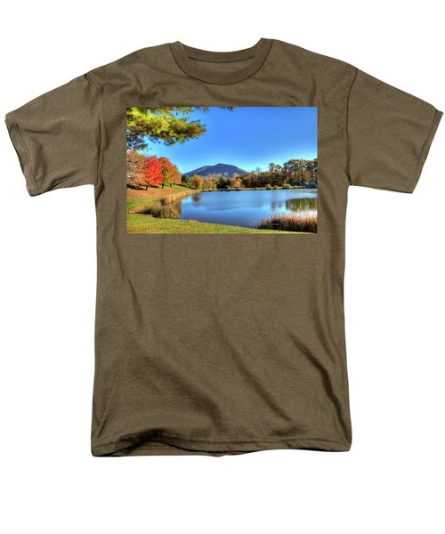 Mount Jefferson Reflection Men's T-Shirt  (Regular Fit) by Dale R Carlson