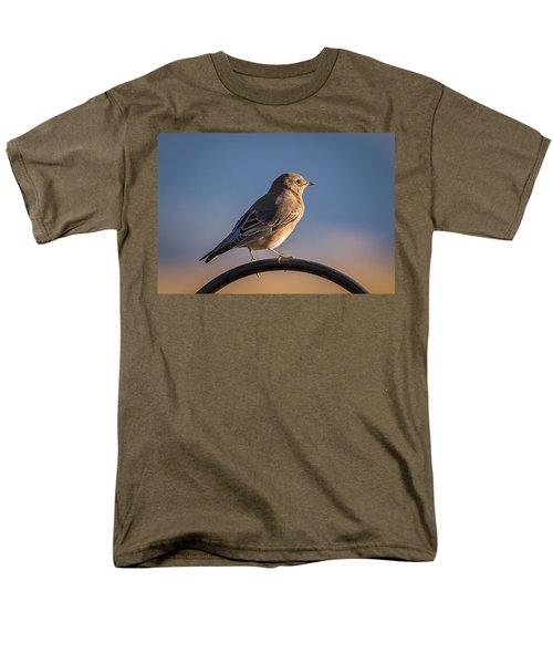 Mountain Bluebird At Sunset Men's T-Shirt  (Regular Fit) by John Brink