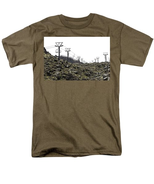 Mountain Cable Road Waiting For Snow. Mount Ruapehu. New Zealand Men's T-Shirt  (Regular Fit) by Yurix Sardinelly