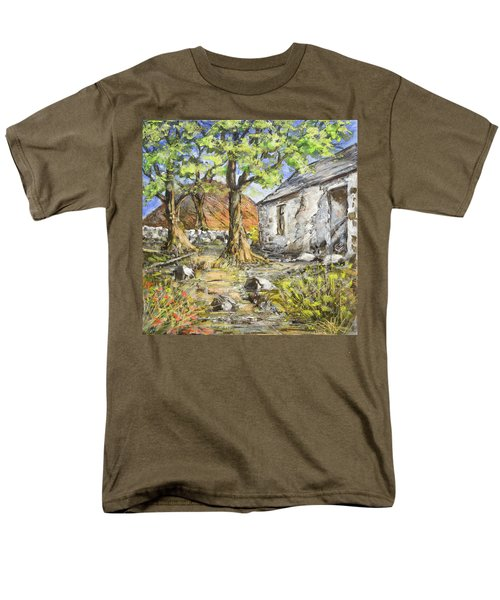 Mountain Cottage Men's T-Shirt  (Regular Fit) by Marty Garland