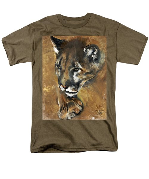 Mountain Lion - Guardian Of The North Men's T-Shirt  (Regular Fit) by J W Baker
