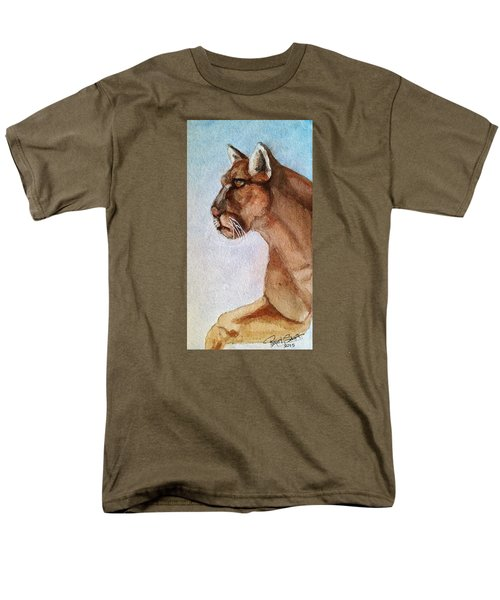 Mountain Lion Men's T-Shirt  (Regular Fit) by Rand Swift