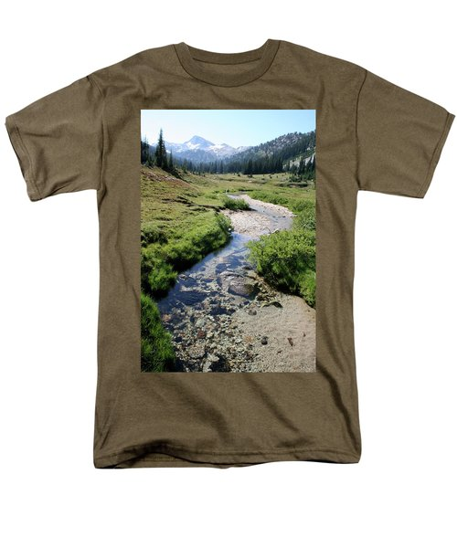 Mountain Meadow And Stream Men's T-Shirt  (Regular Fit) by Quin Sweetman