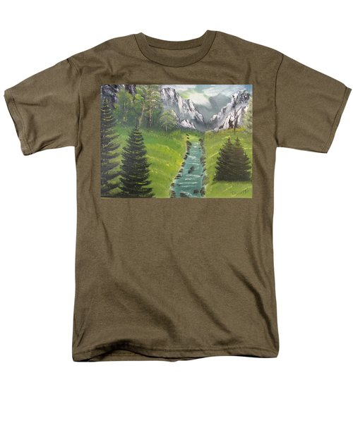 Mountain Meadow Men's T-Shirt  (Regular Fit) by Thomas Janos
