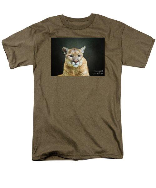 Mountian Lion Men's T-Shirt  (Regular Fit) by Suzanne Handel