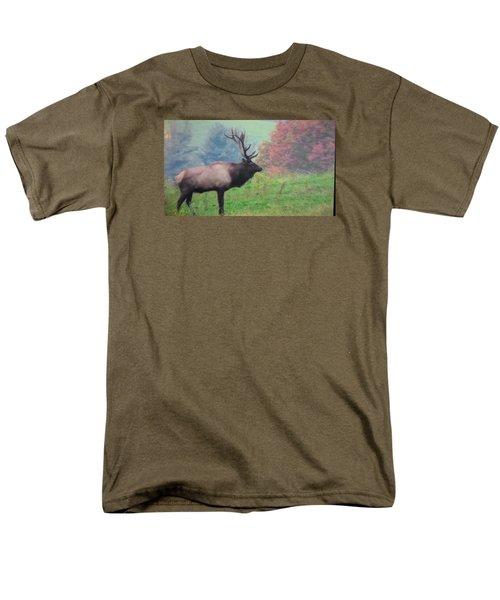 Mr Elk Enjoying The Autumn Men's T-Shirt  (Regular Fit) by Jeanette Oberholtzer