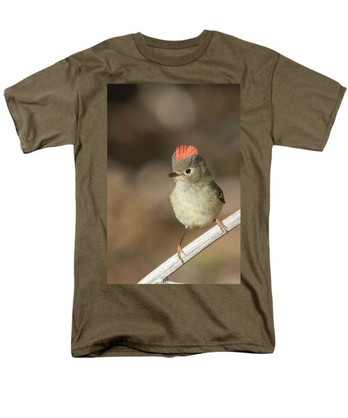 Men's T-Shirt  (Regular Fit) featuring the photograph Mr Kinglet  by Mircea Costina Photography