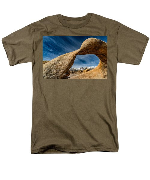 Men's T-Shirt  (Regular Fit) featuring the photograph Mt Whitney Through Mobius Arch by Janis Knight