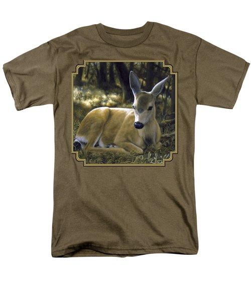 Mule Deer Fawn - A Quiet Place Men's T-Shirt  (Regular Fit) by Crista Forest