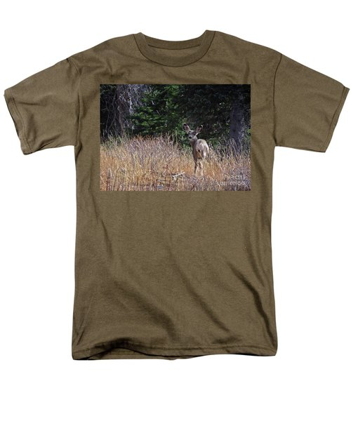 Mule Deer In Utah Men's T-Shirt  (Regular Fit) by Cindy Murphy - NightVisions