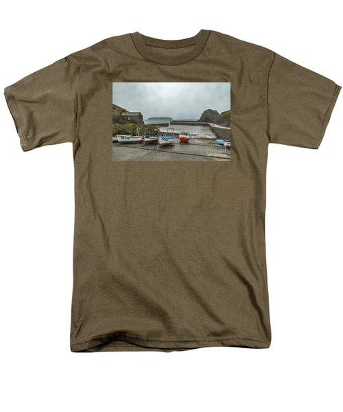 Men's T-Shirt  (Regular Fit) featuring the photograph Mullion Cove Harbour by Brian Roscorla
