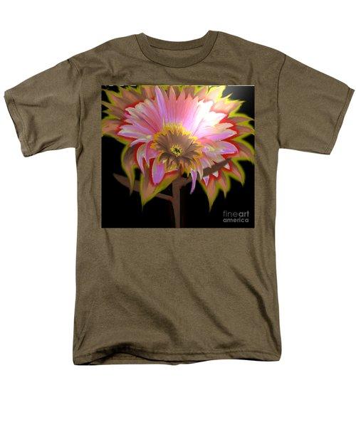 Multi Color Daisy Men's T-Shirt  (Regular Fit) by Belinda Threeths