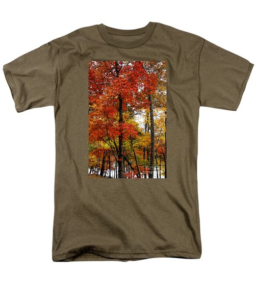 Multi-colored Leaves Men's T-Shirt  (Regular Fit) by Barbara Bowen