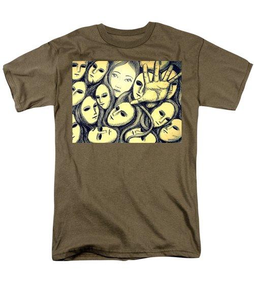 Multiple Personalities Men's T-Shirt  (Regular Fit) by Paulo Zerbato