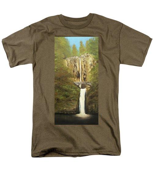 Multnomah Falls Men's T-Shirt  (Regular Fit)