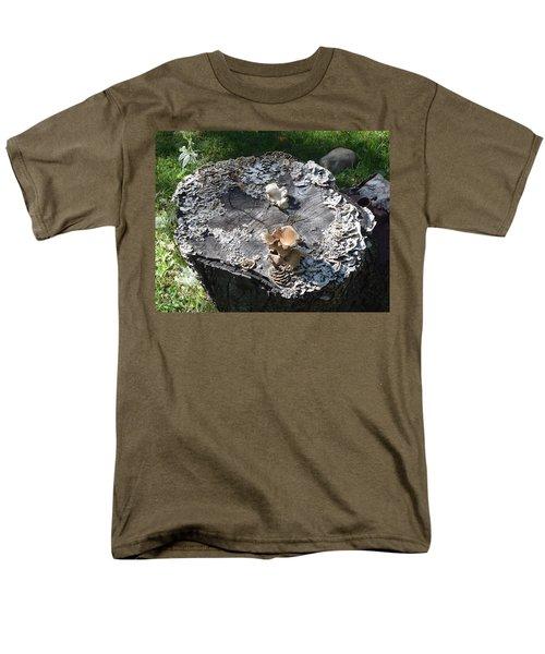 Men's T-Shirt  (Regular Fit) featuring the photograph Mushroom Stump by R  Allen Swezey