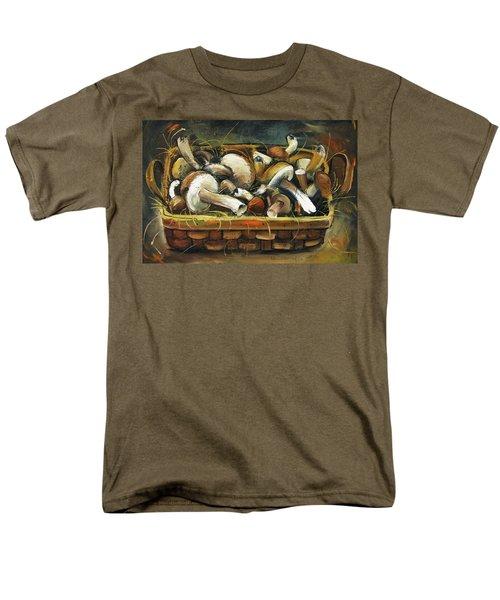 Mushrooms Men's T-Shirt  (Regular Fit) by Mikhail Zarovny