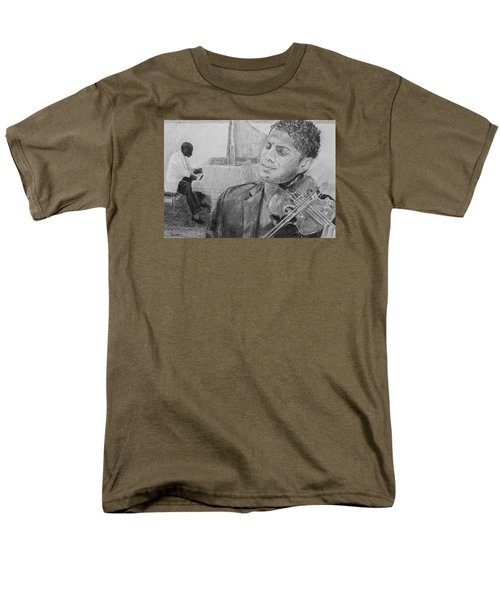 Men's T-Shirt  (Regular Fit) featuring the drawing Music For The Soul by Quwatha Valentine